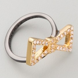 MARC BY MARC JACOBS - Marc by Marc Jacobs Annabelle Sparkle Pave Bow Ring