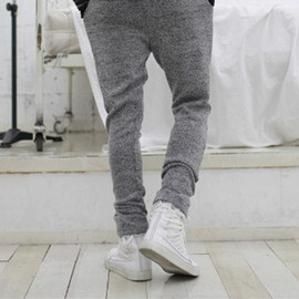 Gray Knit Pants