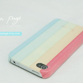 iphone 4 case , case for Iphone 4 Blackberry mobile Case handmade: soft colorful background pattern