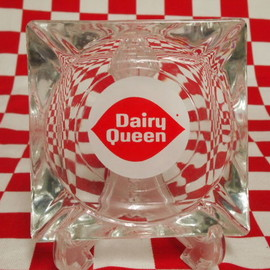 Fire King - Age Federal Glass Dairy Queen Ashtray