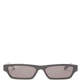 BALENCIAGA - Slim rectangular acetate sunglasse