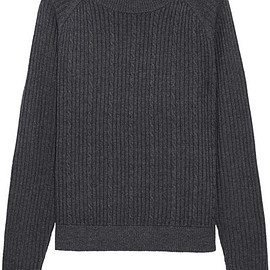 FRAME - Cable-knit merino wool-blend sweater