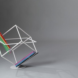 Marco Ripa - sculptural magazine rack