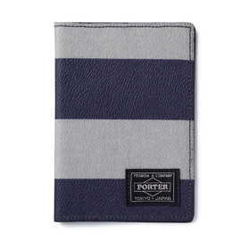 "HEAD PORTER - ""OXFORD"" PASSPORT CASE GREY"