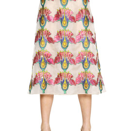 Christopher Kane - SEQUIN EMBROIDERED ORGANZA SKIRT