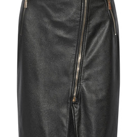 JASON WU - Textured-leather pencil skirt