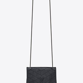 SAINT LAURENT - NIKI chain wallet in crinkled vintage leather