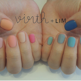 virth+LIM - hand nail ピンクとブルー