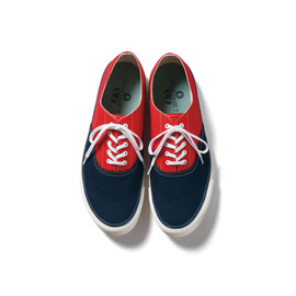 SOPHNET. - CANVAS DECK SHOES NAVY × RED