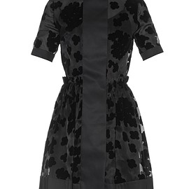 Carven - Point-collar organza dress