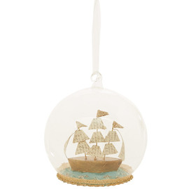 Liberty London - MULTICOLOUR SAIL BOAT GLASS DECORATION