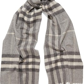 Burberry - Checked cashmere scarf