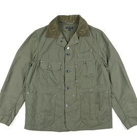 ENGINEERED GARMENTS - Coverall Jacket-Nyco Reverse Sateen-Olive