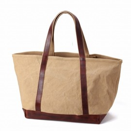 ARTS&CRAFTS - AGING CANVAS BASIC TOTE (TAN)