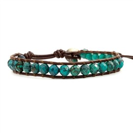 Chan Luu - Mixed Turquoise Single Wrap Bracelet