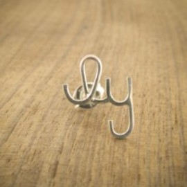 "Melissa Joy Manning - ""ily"" (short for  I love you ) earring"