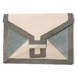 TOPSHOP - OVERSIZED LEATHER CLUTCH