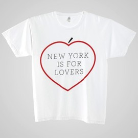American Apparel - Screen Printed Power Washed Tee- NYC Lovers