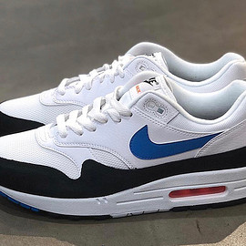 NIKE - Air Max 1 - White/Photo Blue/Total Orange