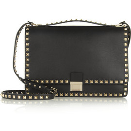 VALENTINO - The Rockstud Flap leather shoulder bag