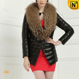 CWMALLS - Women Down Coat with Raccoon Fur Collar CW613582