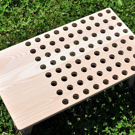 """Roost Outdoors - """"Punched"""" Wood Table"""