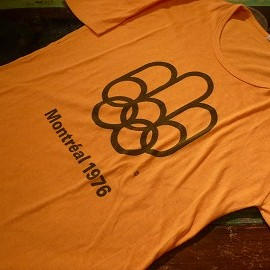 """Quality T-shirt - 「<used>'76 """"Montreal OLYMPIC""""TEE mustard""""made in CANADA"""" size:L 4500yen」完売"""