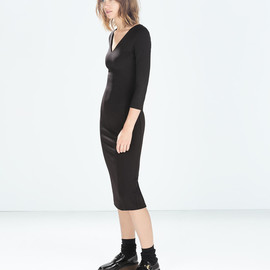 ZARA - V-NECK TUBE DRESS from Zara