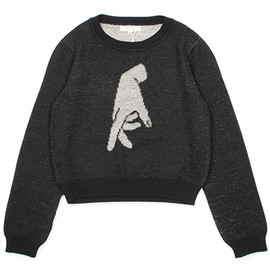 "MURRAL - 【MURRAL】PLATING KNIT ""HAND"" BLACK"