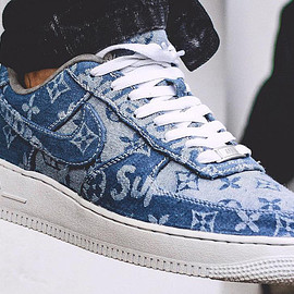 FRE Customs, NIKE, LOUIS VUITTON - Air Force 1 Low - LV x Superme Denim