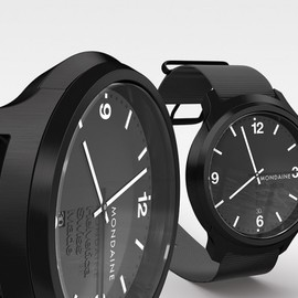 MONDAINE - Helvetica Watch Family No. 1 - Black