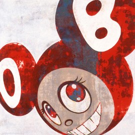 TAKASHI MURAKAMI - And then, and then and then (blue-red)