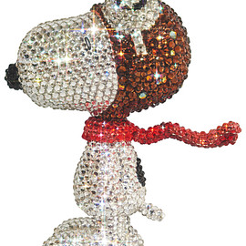 MEDICOM TOY - UDF CRYSTAL DECORATE SNOOPY SNOOPY THE FLYING ACE