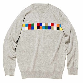 uniform experiment - COLOR CHART CREW NECK KNIT