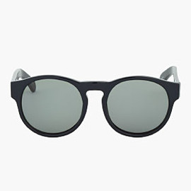 Dries Van Noten - Navy Round Thick Frame Sunglasses