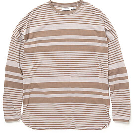 nonnative - CLERK L/S TEE COTTON JERSEY BORDER