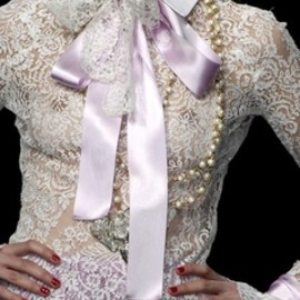 Valentino - white lace and lilac