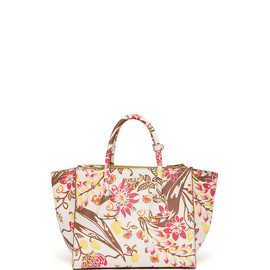 PRADA - Floral-Print Saffiano Large Twin Pocket Tote Bag
