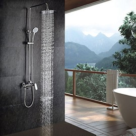 Faucetsmall - Chrome Finish Contemporary Shower Faucet with Handheld and 8 Inch Showerhead - Faucetsmall.com