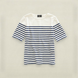 RRL - Striped Pocket Boatneck