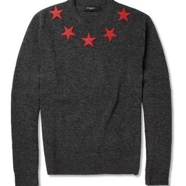 Givenchy - Star-Appliquéd Wool Sweater