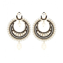 GIVENCHY - FW2015 Pearl-embellished clip-on earrings