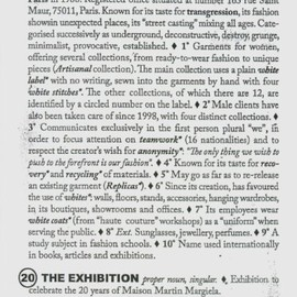 Bob Verhelst, Kaat Debo - Maison Martin Margiela: 20: The Exhibition