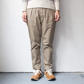 ordinary fits - 【Men's&Ladies'】ordinary fits / Tuck trouser strech chino : beige