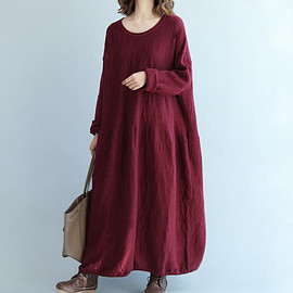Long sweater dress - oversize Loose Maxi Dress/ Gray loose fitting dress/ fuchsia loose fitting dress/ Long sweater dress