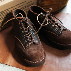 VIBERG - LACE TO TOE OXFORD -BROWN-
