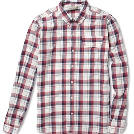 Oliver Spencer - Plaid Button-Down Collar Cotton Shirt