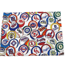 VINTAGE - Vintage 1994 MLB Twin Flat Cotton Sheet Made in USA