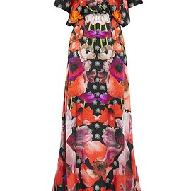 Temperley London - Myrtle floral-print hammered-silk maxi dress