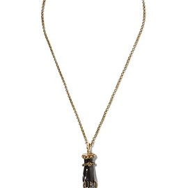 Lanvin - Marella gold and silver-plated crystal necklace